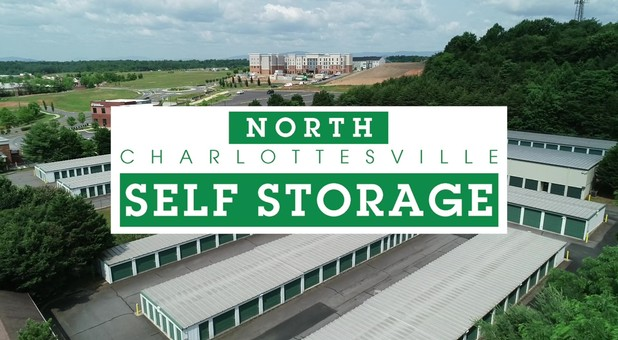 Aerial North Charlottesville Self Storage
