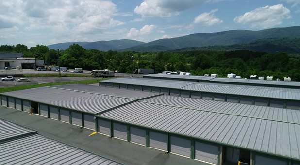 Clean facility and parking at Charlottesville Self Storage at Crozet