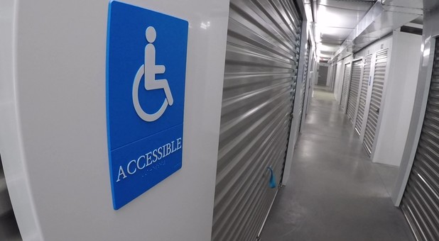 Handicap accessible at Charlottesville Self Storage at Crozet