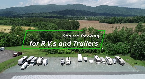 RV parking Charlottesville Self Storage at Crozet