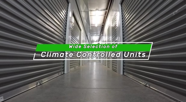 Climate controlled units at Charlottesville Self Storage at Crozet