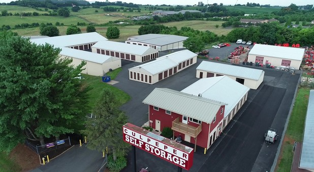 Aerial photo of Culpeper Self Storage