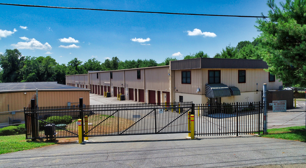 Secure, gated self storage facility