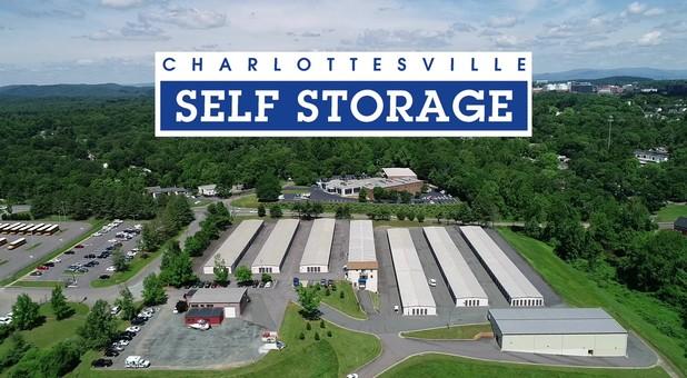 Aerial photo of Charlottesville Self Storage