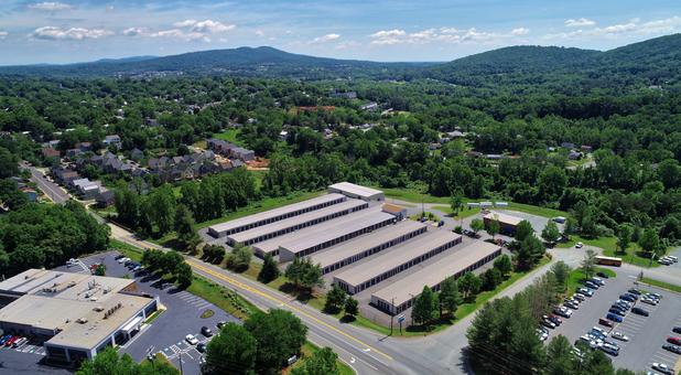 Drive up units at Secure units at Charlottesville Self Storage