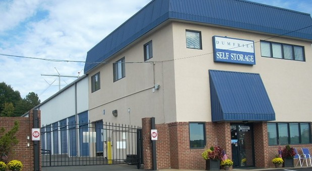 Office and secure gate at Dumfries Self Storage