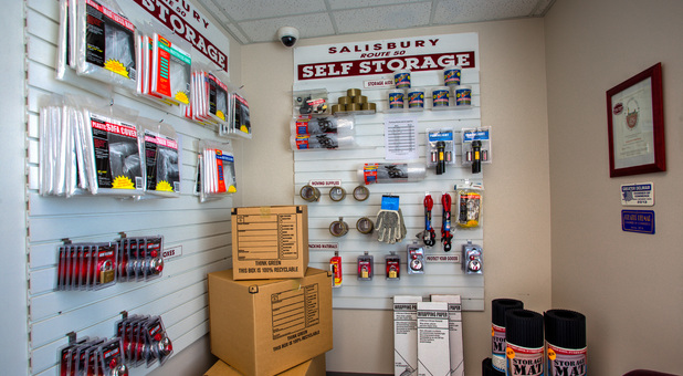 Storage and packing supplies for sale at Salisbury Route 50 Self Storage