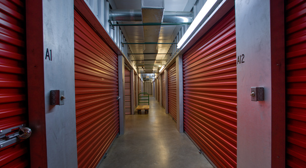 Inside view of storage facility