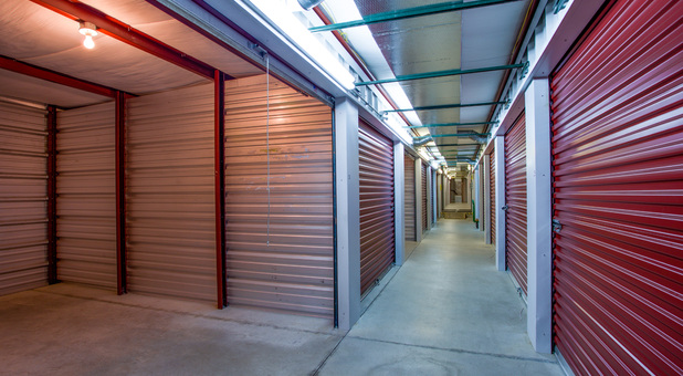 Inside of storage unit at Salisbury Route 50 Self Storage
