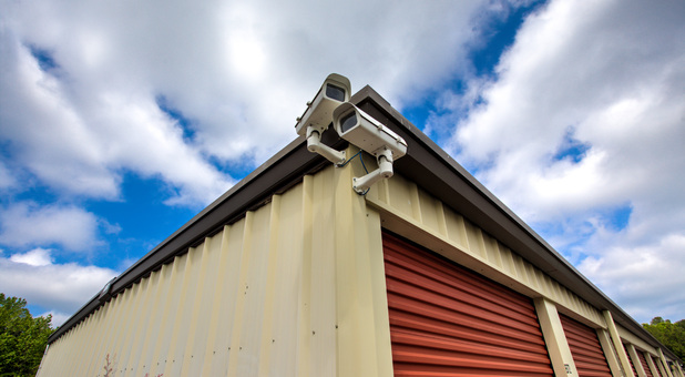 Security cameras at storage facility