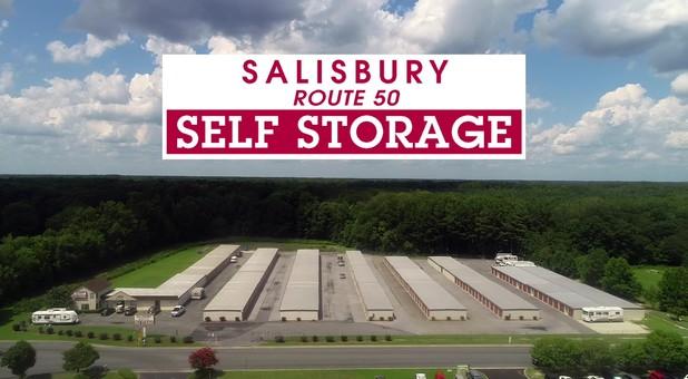 Aerial at Salisbury Route 50 Self Storage