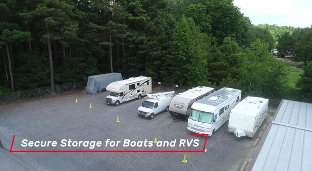 Boats and RV parking at Salisbury Route 50 Self Storage