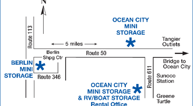 3 locations at Ocean City Mini Storage
