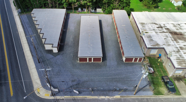 Aerial Delmart Self Storage