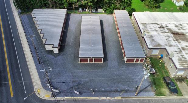Aerial Delmart Self Storage