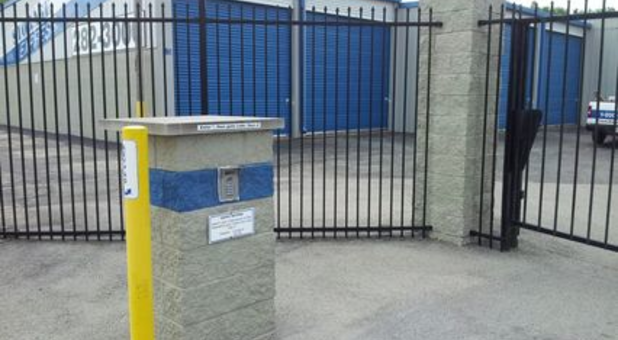 Secure gate access keeps burglars out