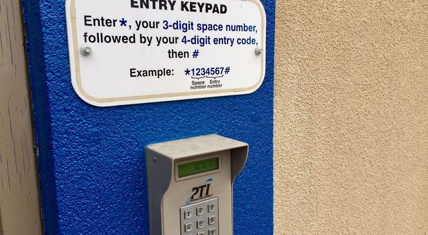 Entry keypad