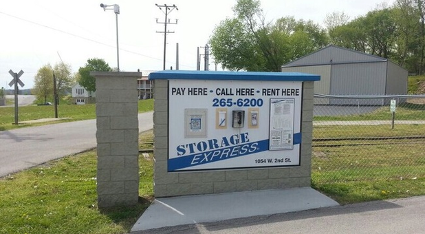 Storage Express' Storage Facility Sign In Madison, IN