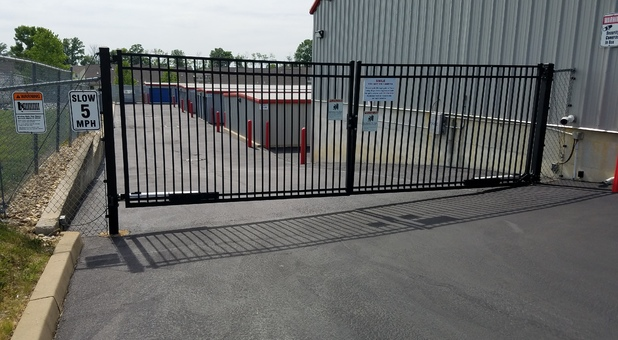 Fenced and Gated Secure Storage Facility
