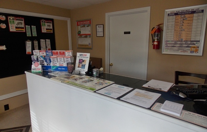 inside of the facility office