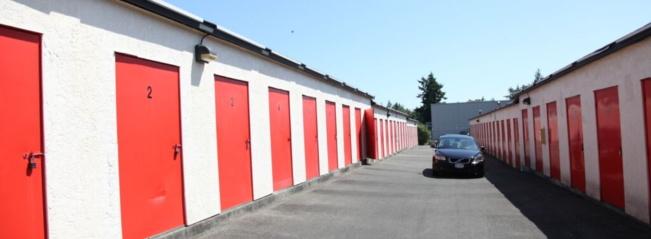 Storage Facility with Wide driveways