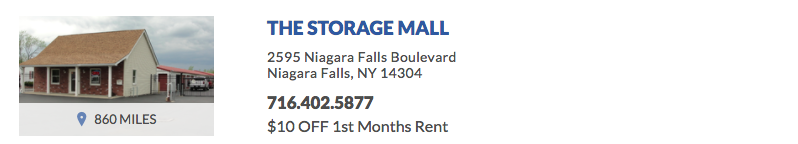 The Storage Mall 2595 Niagara Falls Blvd Niagara Falls, NY 14304