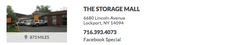 THE STORAGE MALL 6680 Lincoln Avenue Lockport, NY 14094