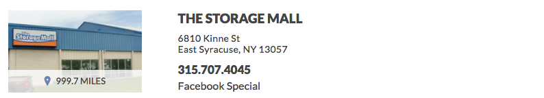 THE STORAGE MALL 6810 Kinne St East Syracuse, NY 13057