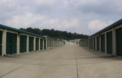 ... Wide Driveways At Storage Facility ...