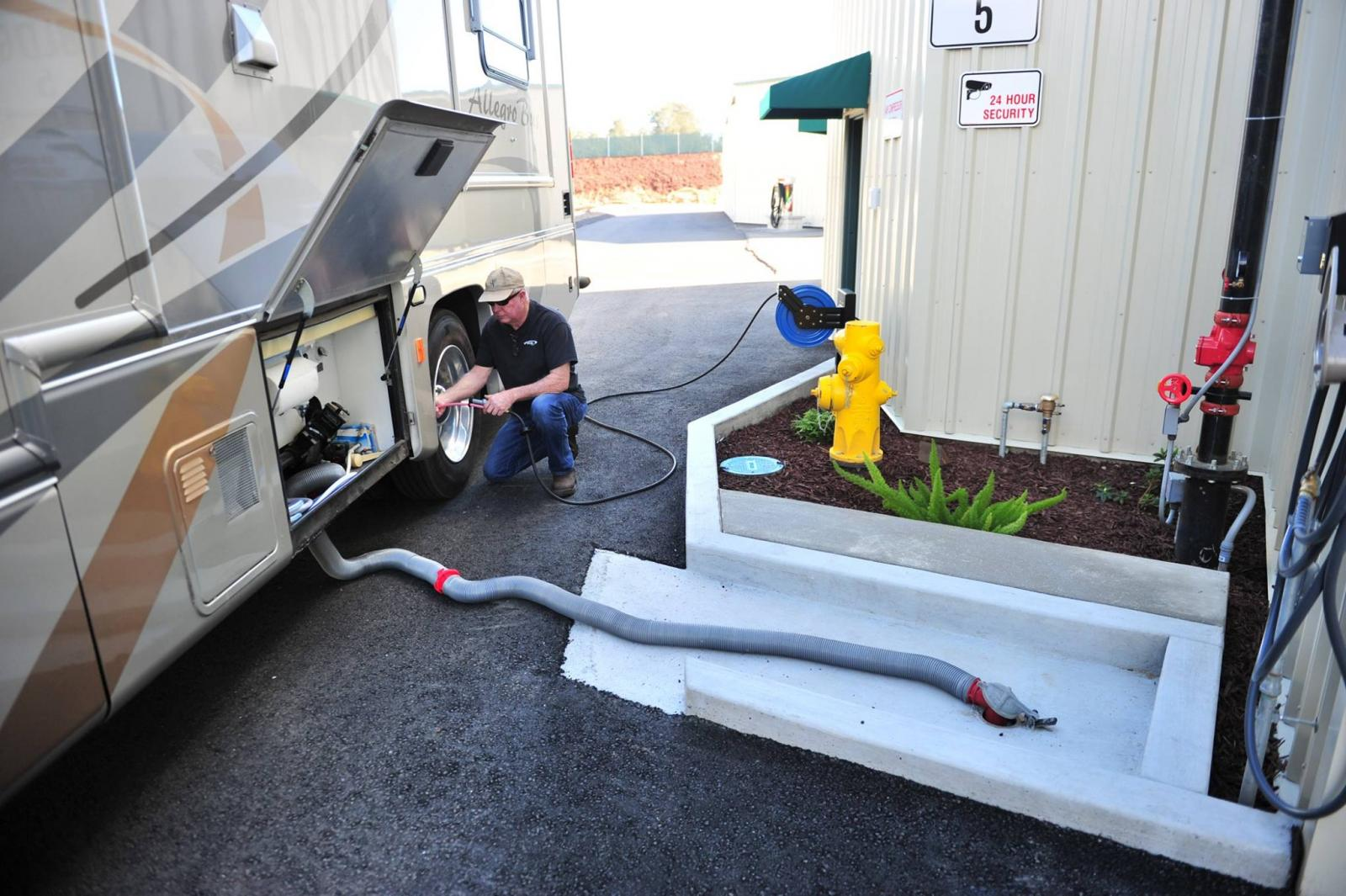 Monarch Mega Storage offers use of Dump Station for RV
