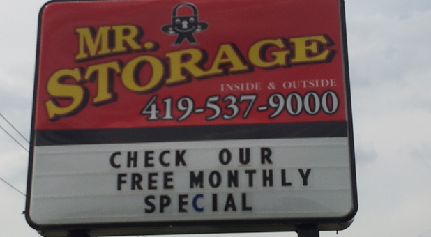 Mr Storage Sign