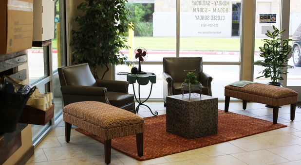 Sitting Area in Stone Oak Facility by Noah's Ark Self Storage