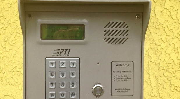 Secure entry with keypad entry