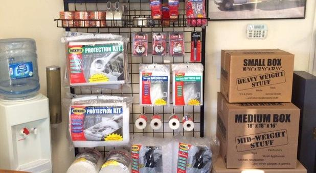 Storage and Packing Supplies Sold On Site