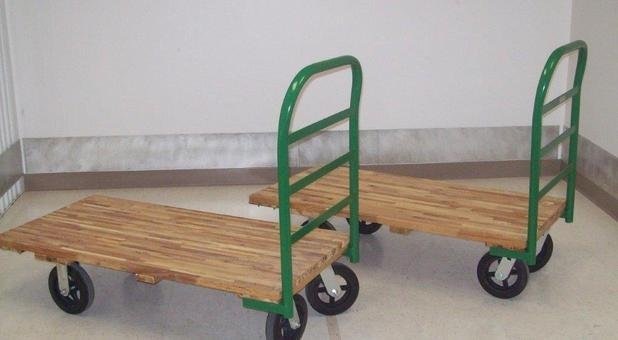 Handcarts Available for Easy Moving