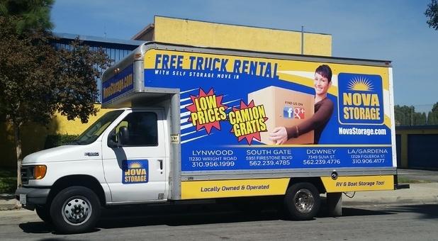 Free Truck Rental at Nova Storage