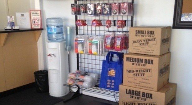 Storage and Packing Supplies Sold at Facility