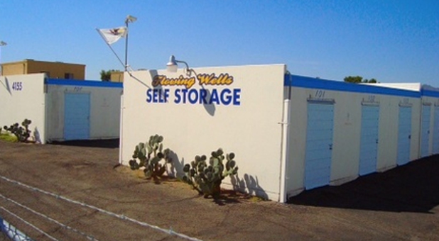 Outdoor View Of Storage Buildings At National Self Storage