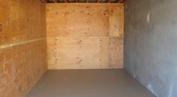 Storage Unit Interior At National Self Storage