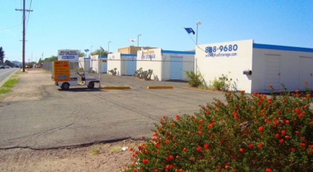 Outdoor Storage Units At National Self Storage In Tucson
