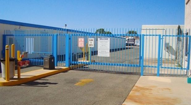 Gated Storage Facility At National Self Storage