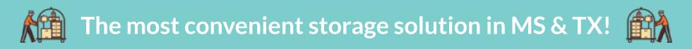 Self storage in Mississippi & Texas