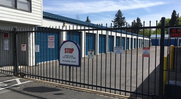 Our facility is fenced, lighted, and gated, with electronic PIN access codes