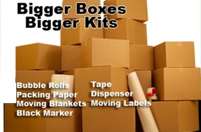 storage boxes and moving supplies