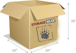 6-Cube Box StorageBear