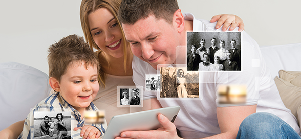 Family image and photo book scanning