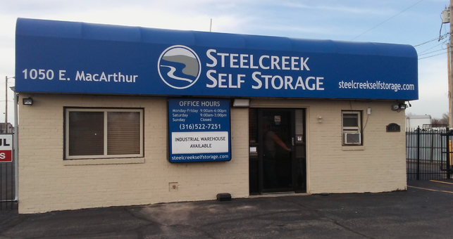 Storefront image of SteelCreek Self Storage on 1050 E. Mac Arthur Street
