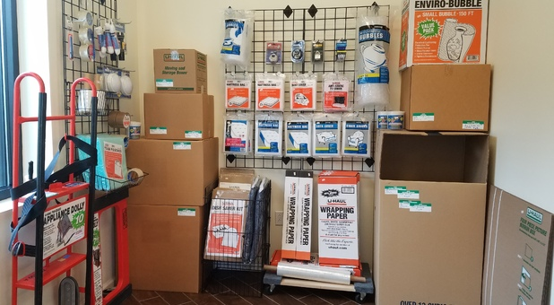 Purchase a variety of moving supplies on site