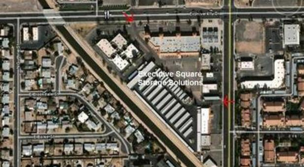 birds eye view of executive square storage solutions in mesa az