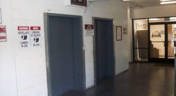 Elevators in storage facility